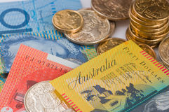 Valuta australiana Immagini Stock