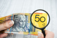 Valuta australiana Fotografie Stock