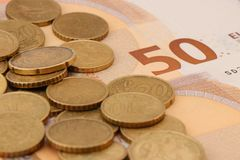 Valuta av den europeiska unionen royaltyfria foton
