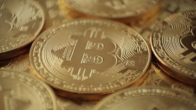 Valuta Bitcoin di Digital stock footage