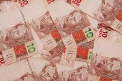 Valuta brasiliana 10 Fotografia Stock Libera da Diritti