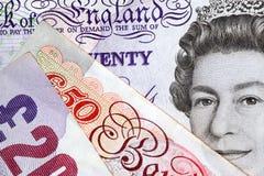 Valuta britannica Fotografie Stock