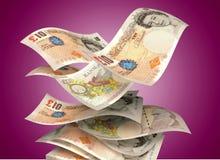 Valuta britannica Immagini Stock Libere da Diritti