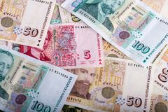 Valuta bulgara BGN Immagini Stock Libere da Diritti