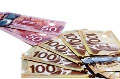 Valuta canadese Fotografie Stock Libere da Diritti