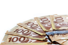 Valuta canadese Fotografie Stock