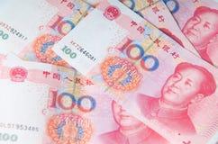 Valuta cinese dei soldi Fotografie Stock