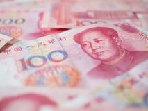 Valuta cinese delle banconote di yuan Fotografia Stock