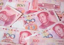 Valuta cinese delle banconote di yuan Fotografia Stock Libera da Diritti