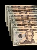 Valuta con i numeri successivi Immagine Stock Libera da Diritti
