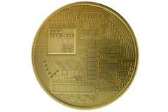 Valuta cripto dell'oro di moneta di Bitcoin immagini stock