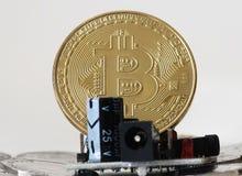 Valuta cripto di Bitcoin Immagine Stock Libera da Diritti