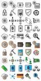Valuta cripto e simboli cripto del mercato per uso di progettazione fotografia stock