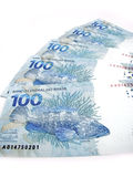 Valuta dal Brasile Immagine Stock