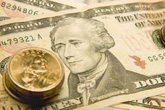 Valuta degli Stati Uniti Fotografie Stock Libere da Diritti