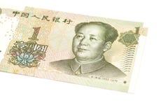 1 valuta del cinese di yuan Immagine Stock Libera da Diritti