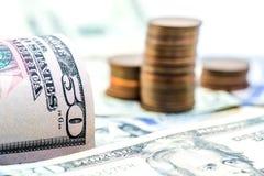 Valuta del dollaro americano Immagini Stock Libere da Diritti