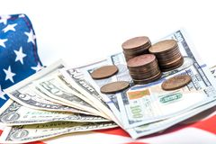 Valuta del dollaro americano, Fotografia Stock