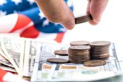 Valuta del dollaro americano, Immagini Stock Libere da Diritti