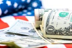 Valuta del dollaro americano, Fotografia Stock Libera da Diritti