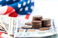 Valuta del dollaro americano Fotografie Stock Libere da Diritti