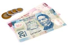 Valuta del Messico Immagine Stock