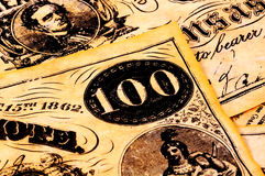 Valuta dell'annata immagine stock