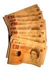 Valuta dell'Inghilterra Fotografia Stock Libera da Diritti