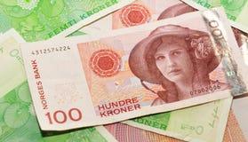 Valuta della Norvegia Immagine Stock