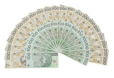 Valuta della Polonia Fotografia Stock