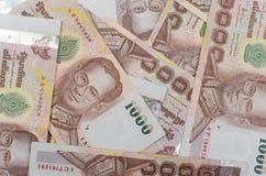 Valuta della Tailandia, fondo di baht tailandese. Fotografia Stock Libera da Diritti