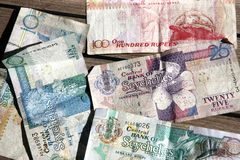 Valuta delle Seychelles immagini stock
