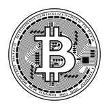 Valuta di Bitcoin in bianco e nero Fotografia Stock