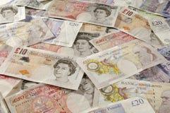 Valuta di carta britannica Fotografie Stock Libere da Diritti