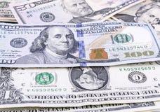 Valuta di carta degli Stati Uniti, banconota in dollari Fotografie Stock Libere da Diritti