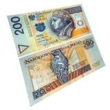 Valuta di carta polacca Fotografie Stock