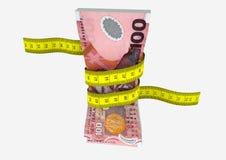 valuta di 3D Nuova Zelanda con i paii di forbici Fotografia Stock Libera da Diritti
