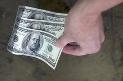 Valuta di galleggiamento degli Stati Uniti Fotografie Stock Libere da Diritti