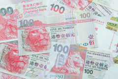 Valuta di Hong Kong Dollar Fotografie Stock