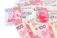 Valuta di Hong Kong Dollar Fotografie Stock