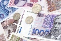 Valuta di Kuna del croato Fotografie Stock Libere da Diritti