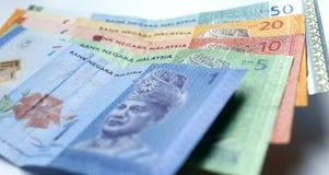 Valuta di ringgit malese su fondo bianco Fotografia Stock