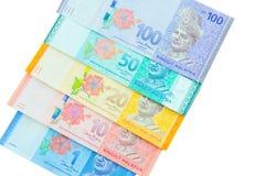 Valuta di ringgit, Malesia Fotografia Stock Libera da Diritti