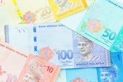 Valuta di ringgit, Malesia Immagini Stock