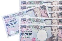 Valuta di Yen giapponesi Immagine Stock Libera da Diritti