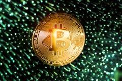 Valuta digitale di Bitcoin Fotografia Stock Libera da Diritti