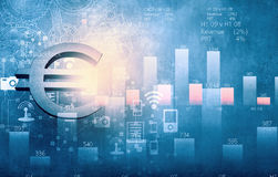 Valuta ed attività bancarie Fotografia Stock Libera da Diritti