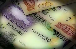 valuta för 4k Jamaica - begrepp för bankrörelsen och för ekonomisk stabilitet Arkivbilder