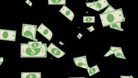 Valuta för USA för dollar för pengar gör fallande finansiell det regn royaltyfri illustrationer