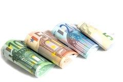 , valuta, fondo bianco fotografia stock